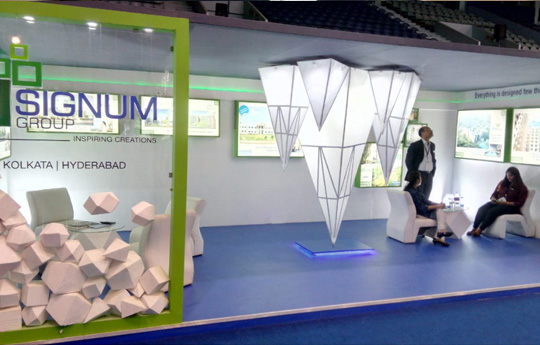 Real Estate Exhibition Stall : A new vision and approach to stall design for exhibition
